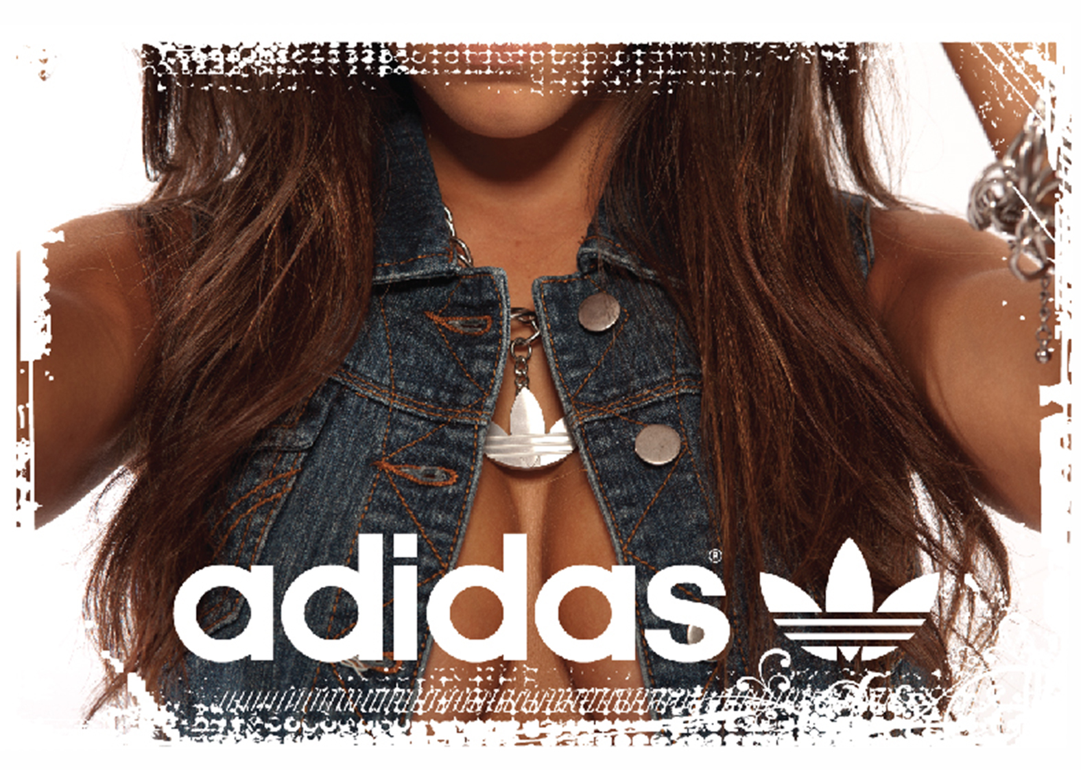 Adidas Originals T-Shirt Girl Fashion Sexy