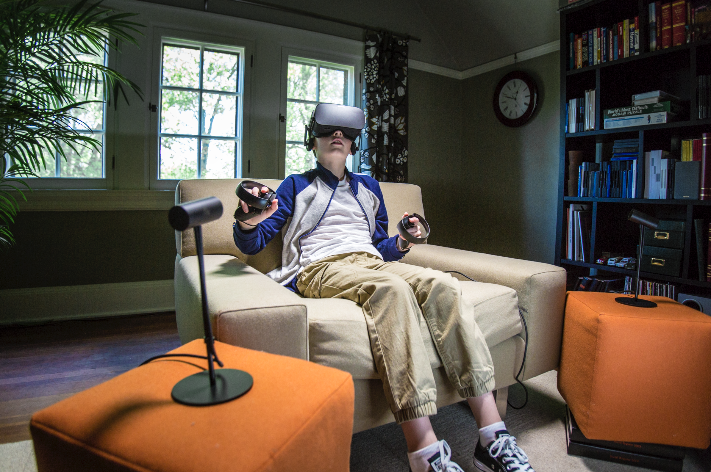 Teenager and his Virtual Reality VR Headset
