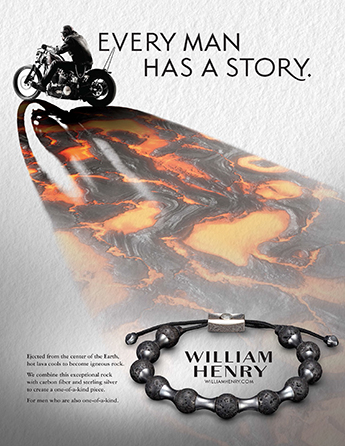 William Henry Motorcycle and Lava