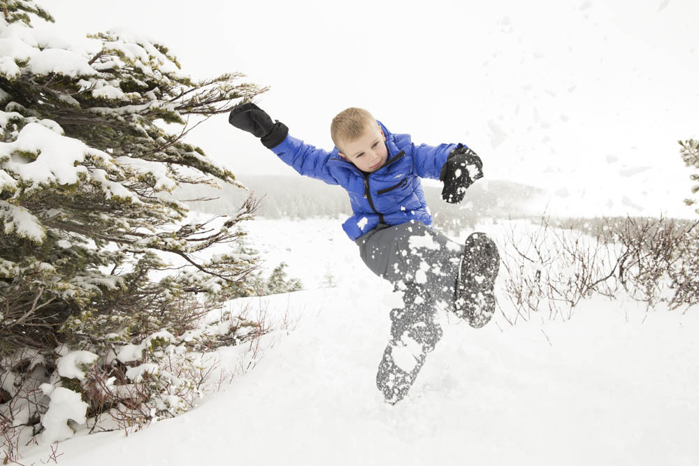 Pacific Trail Boy in Snow